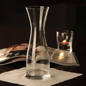透明ガラス花瓶ラッキー竹花瓶大結婚式の家の装飾