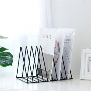 三角金属テーブル収納バスケットヨーロッパのシックな北欧デスク収納バスケット雑誌紙文書オーガナイザー家の装飾SL