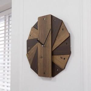 ヴィンテージ庭の壁時計創造的なリビングルームラウンド壁の装飾寝室ミュートクロック装飾ぼろぼろのシックな壁時計