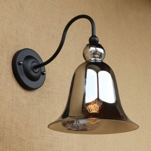 ヴィンテージステンドグラスウォールランプ照明ホーン形状ガラスランプシェードレトロウォールライト用寝室ベッドサイドロフトバー階段通路