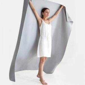 ワッフルタオル毛布通気性ソファビーチ固体投球毛布高級コベルター固体ダブル毛布用ベッド3色