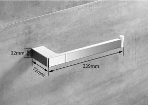 白い壁掛けタオルフックスクエアタオル掛けレール亜鉛合金タオルラックホルダーキッチン用洗面タオル掛け5780