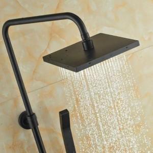 ウォールマウント良質浴室レインシャワーミキサー蛇口セットシングルハンドル風呂シャワーミキサー付き浴槽スパウトXT352