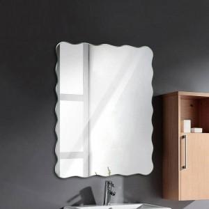 波状フレームレス浴室ミラー壁掛け浴室防水ミラー寝室リビングルームポーチ化粧鏡wx 8231141