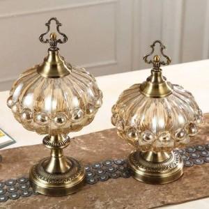 結婚式の装飾高級柔らかい装飾品収納タンクキッチンヨーロッパスタイルのリビングルームティーテーブルキャンディー瓶カバー