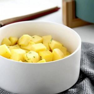 サラダフルーツのパスタSoups.ceramicボール箸、ふたおよびハンドルが付いている陶磁器ボールのための白い陶磁器の円形のサラダサービングボール