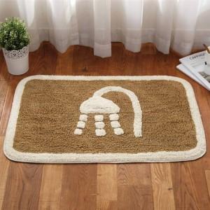 冬の厚い暖かい浴室のリビングルームの床のマットのドアの家の寝室の綿のカーペットの浴室の吸収性の滑り止めのマット