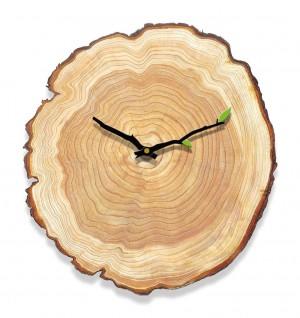 木目調ウォールクロックリビングルームの寝室のミュートクロック木製の壁チャート現代のミニマリストホーム年輪ヨーロッパの時計