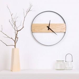 木製の壁時計リビングルームのミニマリストの木製時計クリエイティブファッションクロック現代のミニマリストのテーブル壁掛け時計