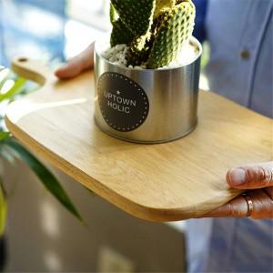 木製チョッピングブロックブナクルミピザパンフルーツチーズぶら下げカッティングボード耐久性のある滑り止めキッチンツールアクセサリー