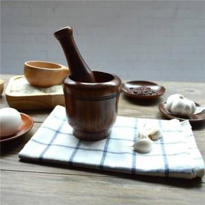 塩/コショウ/フルーツ/野菜の環境に優しい木製キッチン用品調味料研削用木製ニンニクパウンダーミルズ